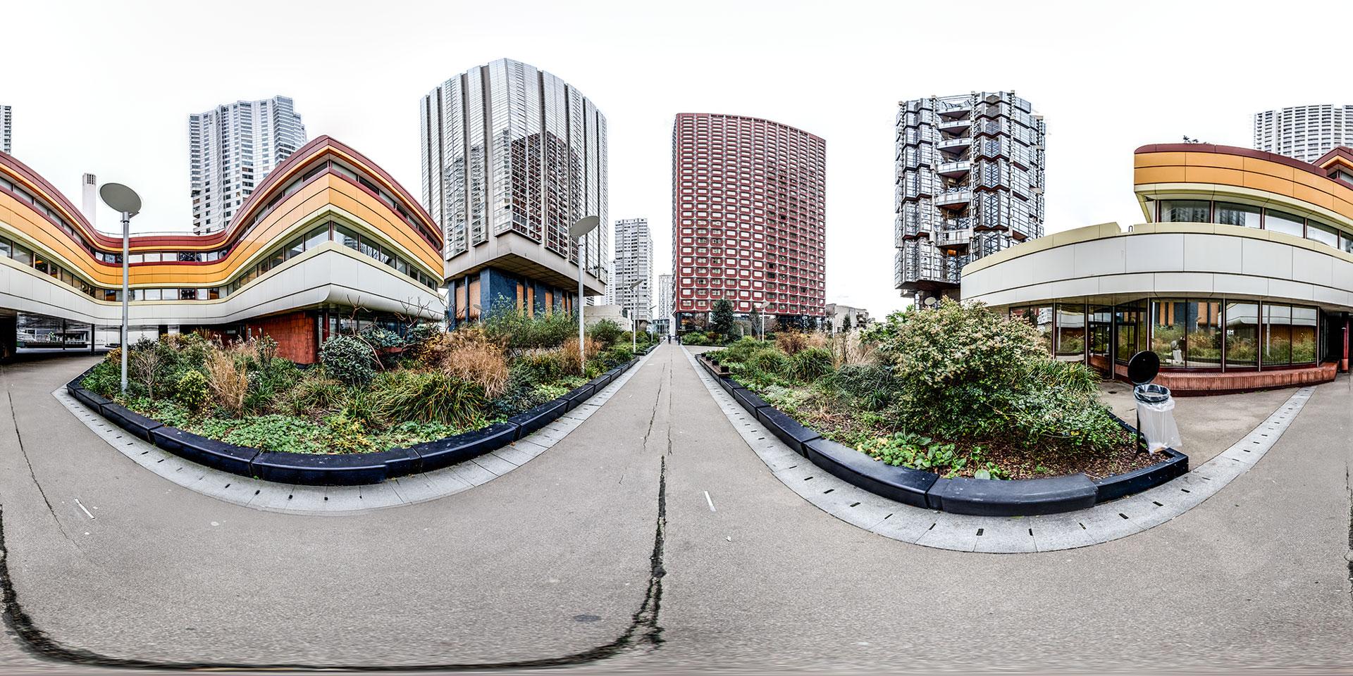 Vue panoramique en projection équirectangulaire
